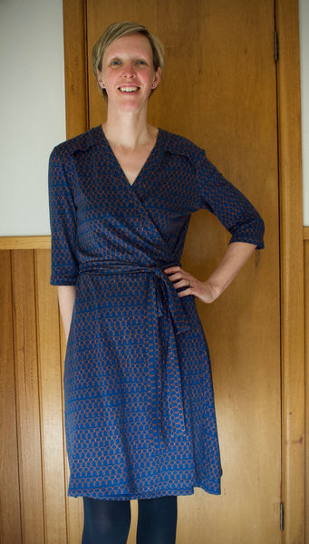 Elisa wrap dress, pattern by La Maison Victor