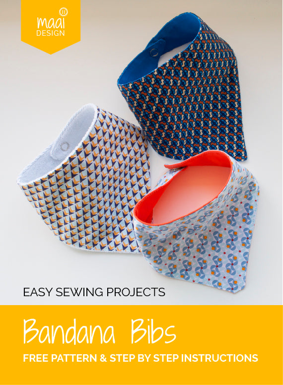 Bandana Bibs - Free pattern and step-by-step instructions - MaaiDesign blog