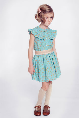 Dress sewn with Soft Cactus fabric - available at MaaiDesign online fabric store