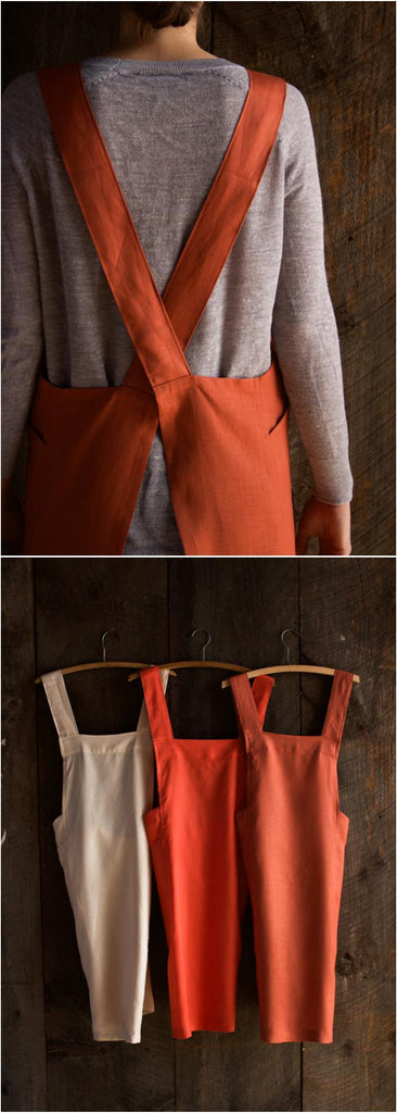 Linen cross back apron Purl Soho