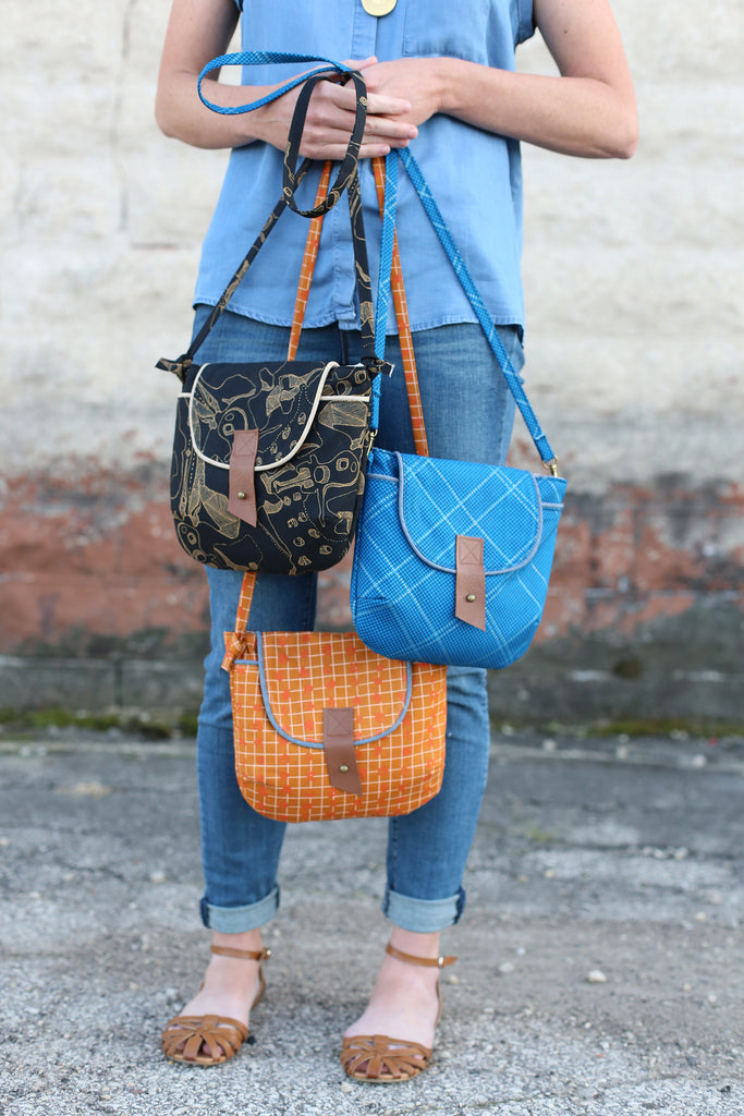 Noodlehead crossbody bag free sewing pattern
