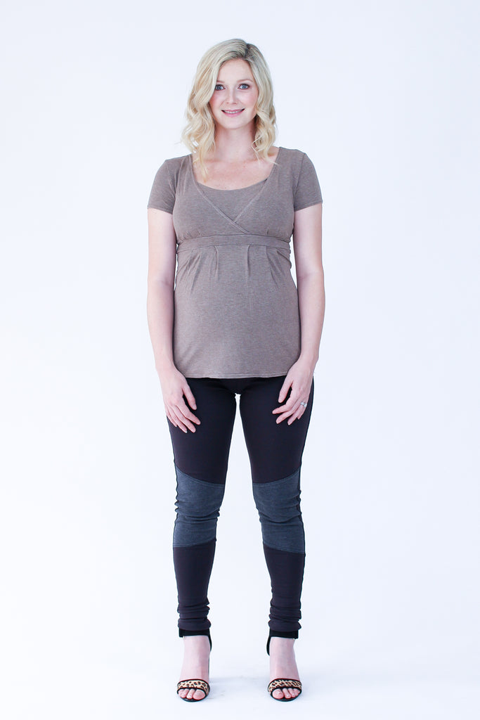 jersey sewing pattern Amber maternity top