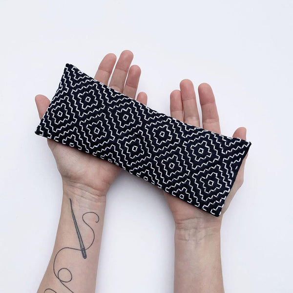Sashiko eye pillow by Sewing with kate