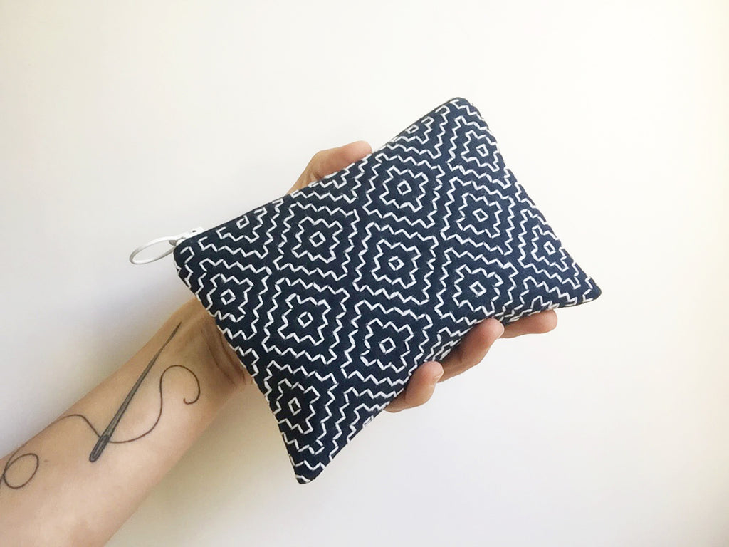 Sashiko purse kit by Sewing With Kate