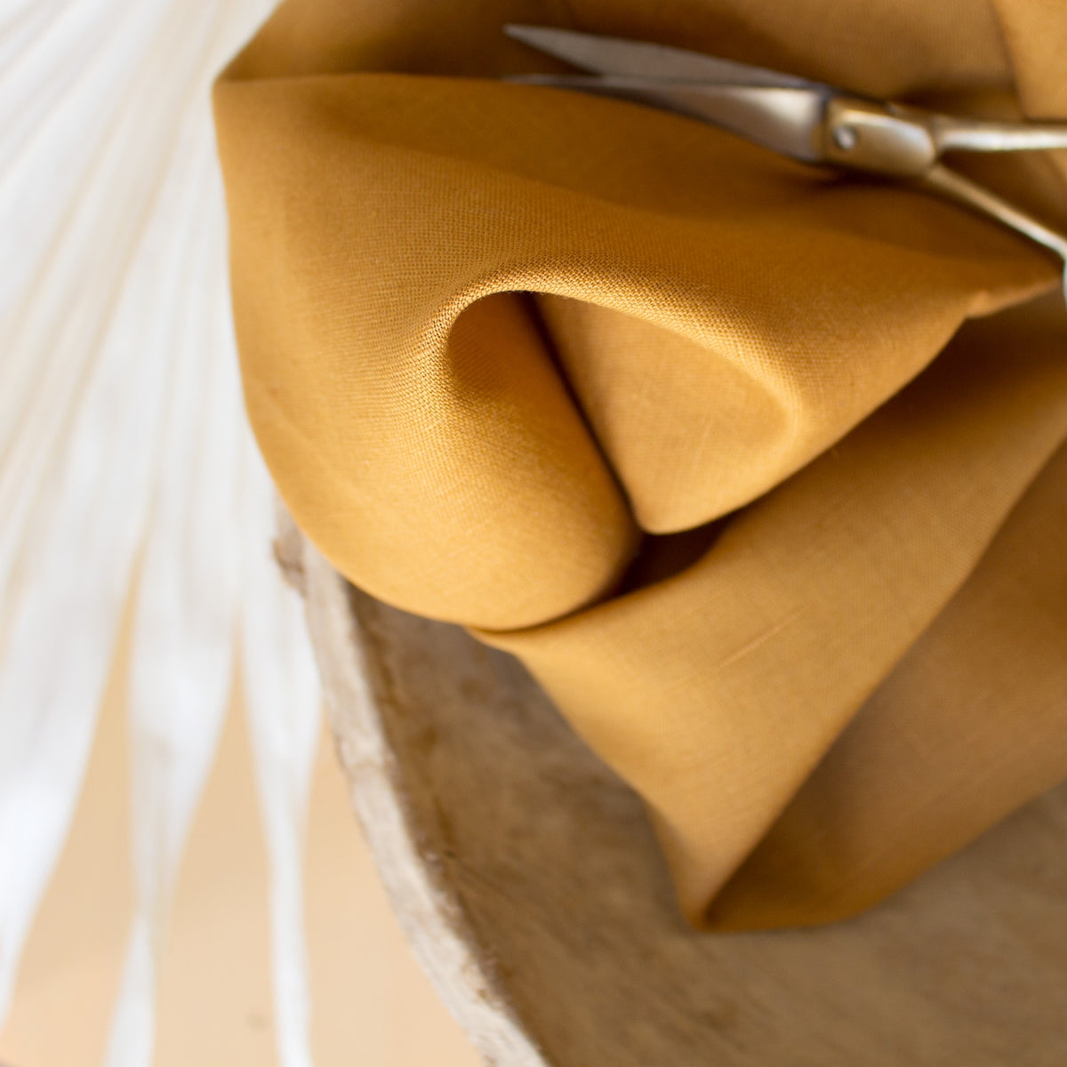 Atelier Brunette - Linen Cotton - Ochre - MaaiDesign