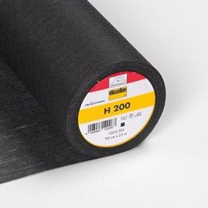 H200 Vilene Fusible Interfacing - Black - MaaiDesign