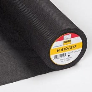 H410 Vilene Fusible Interfacing - Medium - with stabilising threads - Black - MaaiDesign