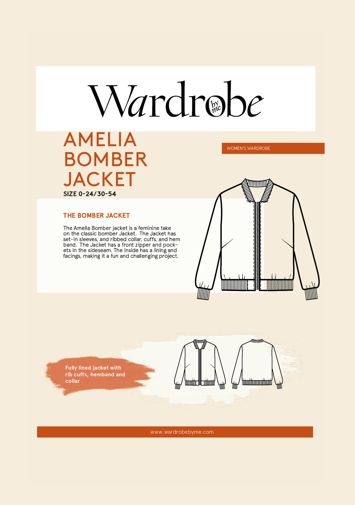 Amelia Bomber | Sewing Pattern - MaaiDesign