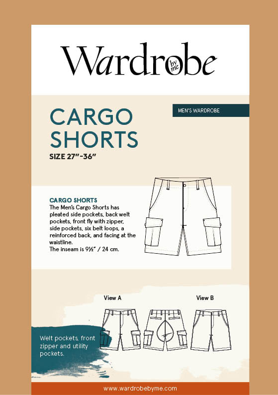 Cargo Shorts  | Sewing Pattern - MaaiDesign