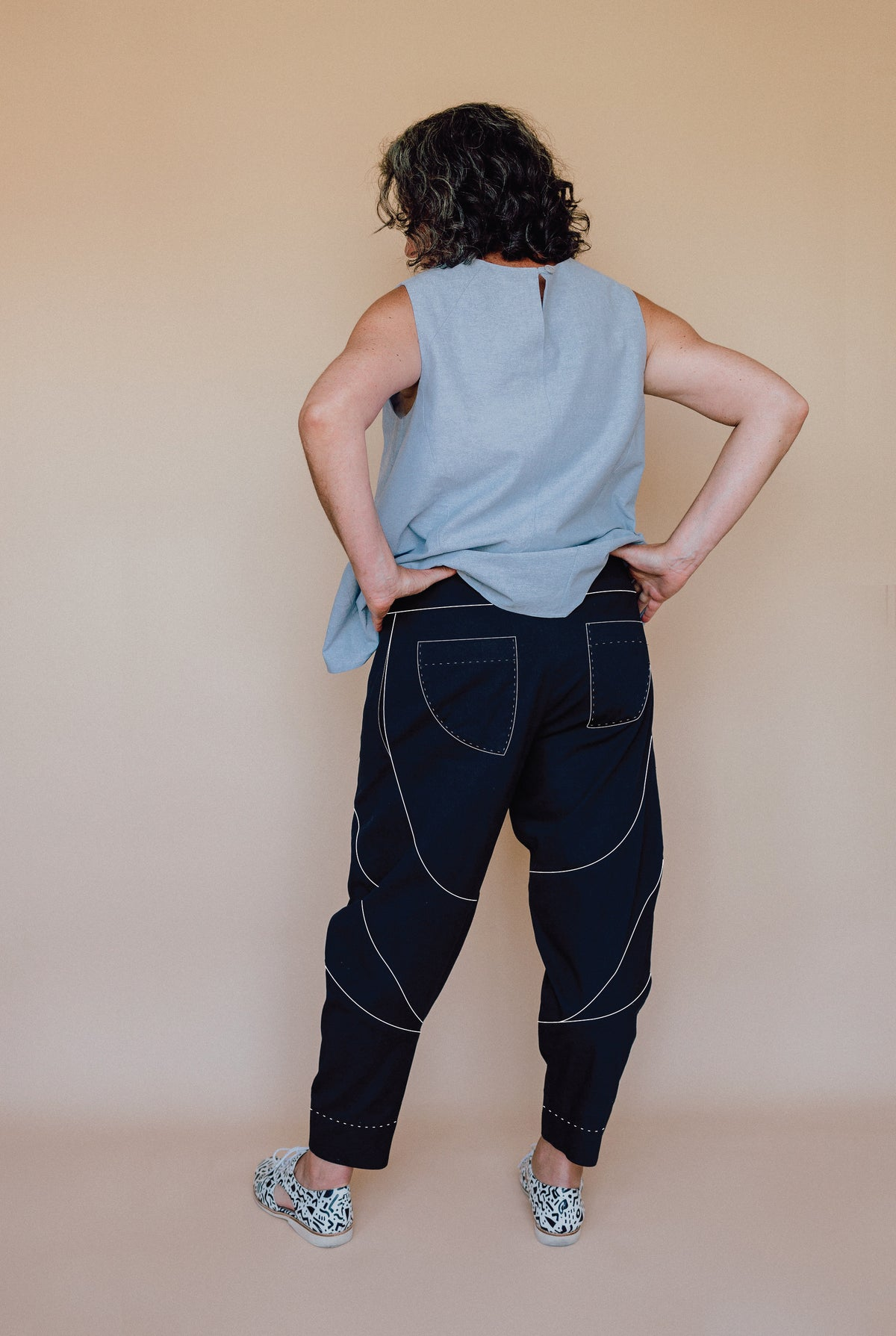 Darlow Pants Sewing Pattern | In The Folds - MaaiDesign