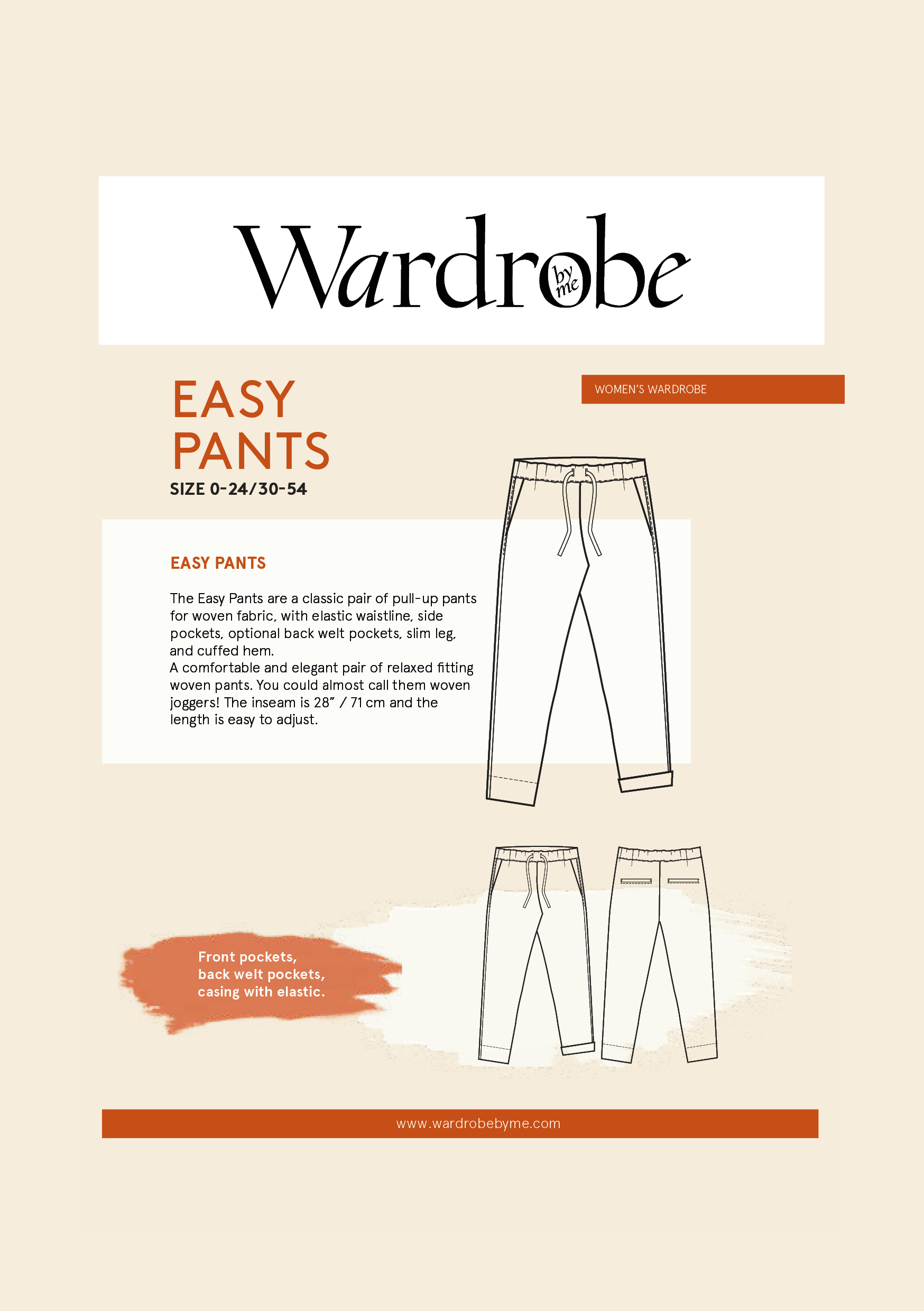 Easy Pants  | Sewing Pattern - MaaiDesign