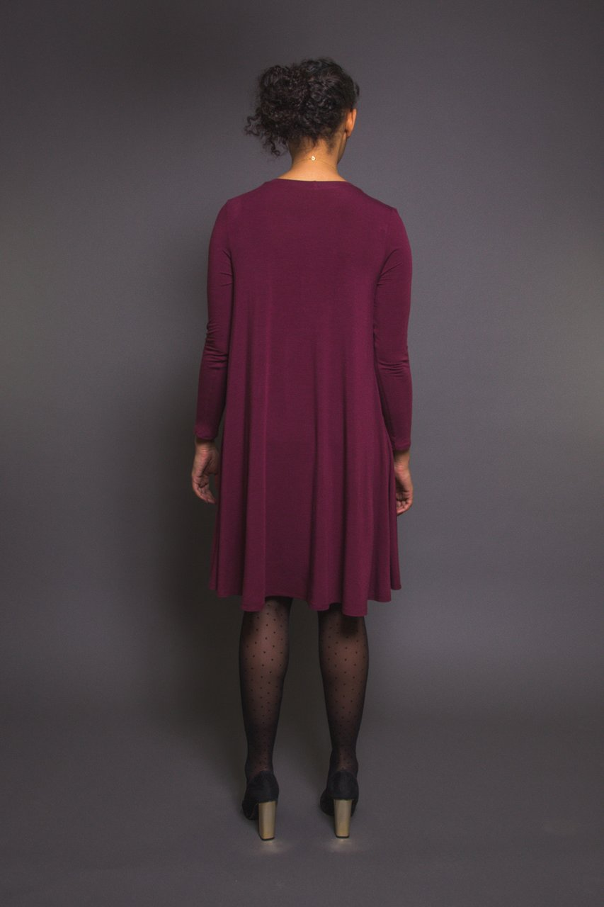 Ebony Knit Dress & T-Shirt Sewing Pattern - MaaiDesign