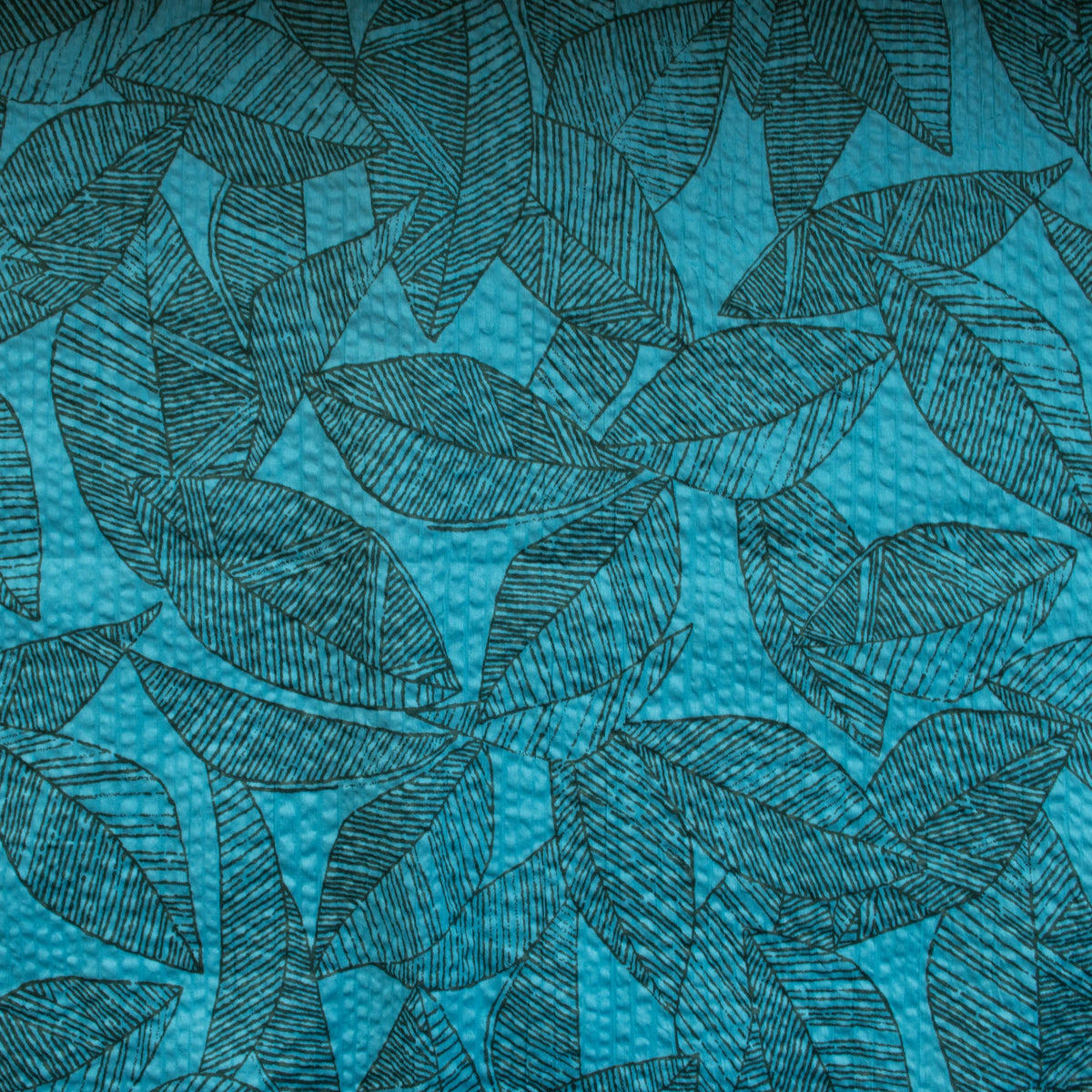 Japanese Crinkle Cotton - Wilderness - Deep Teal - MaaiDesign