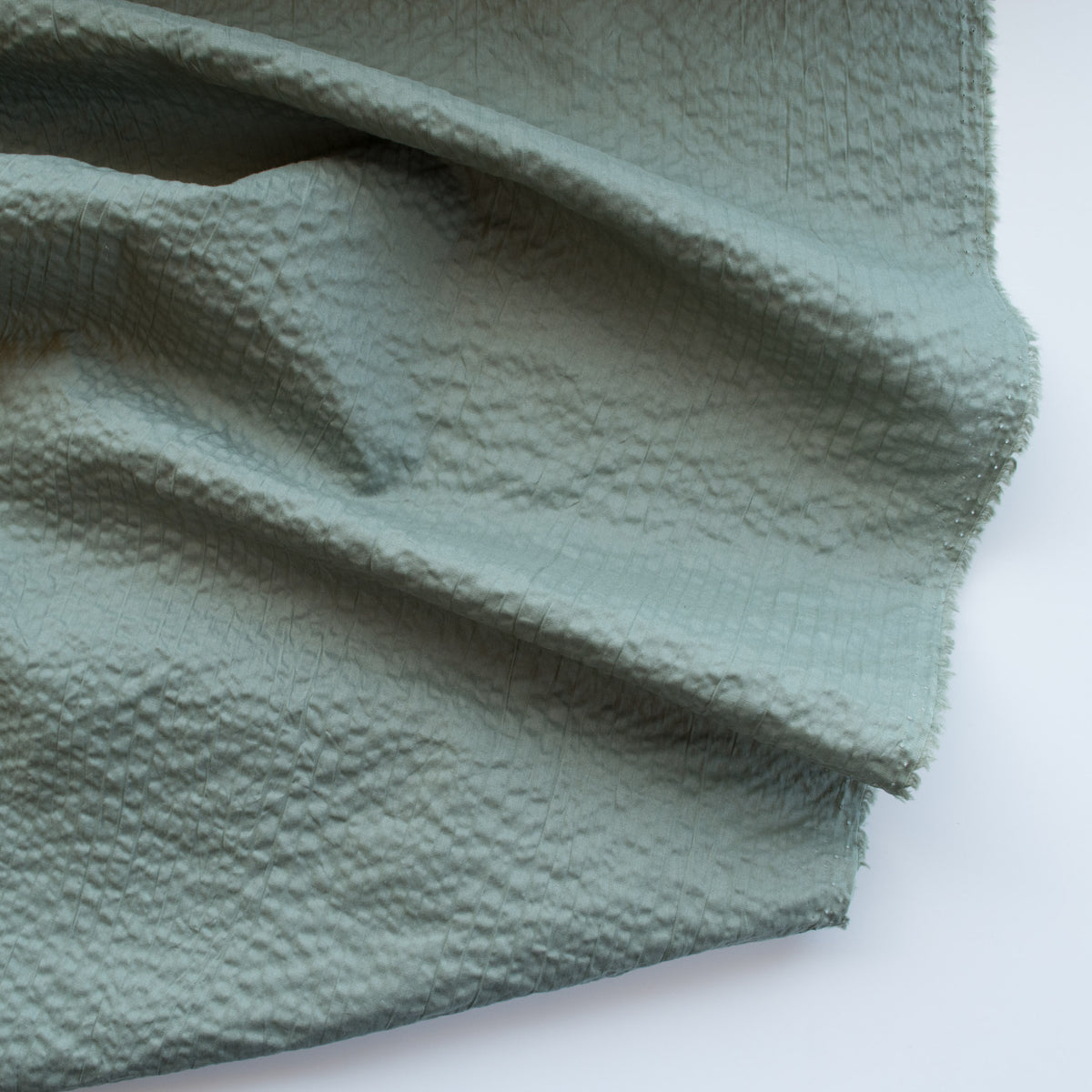 Japanese Crinkle Cotton - Gum Leaf Green - MaaiDesign