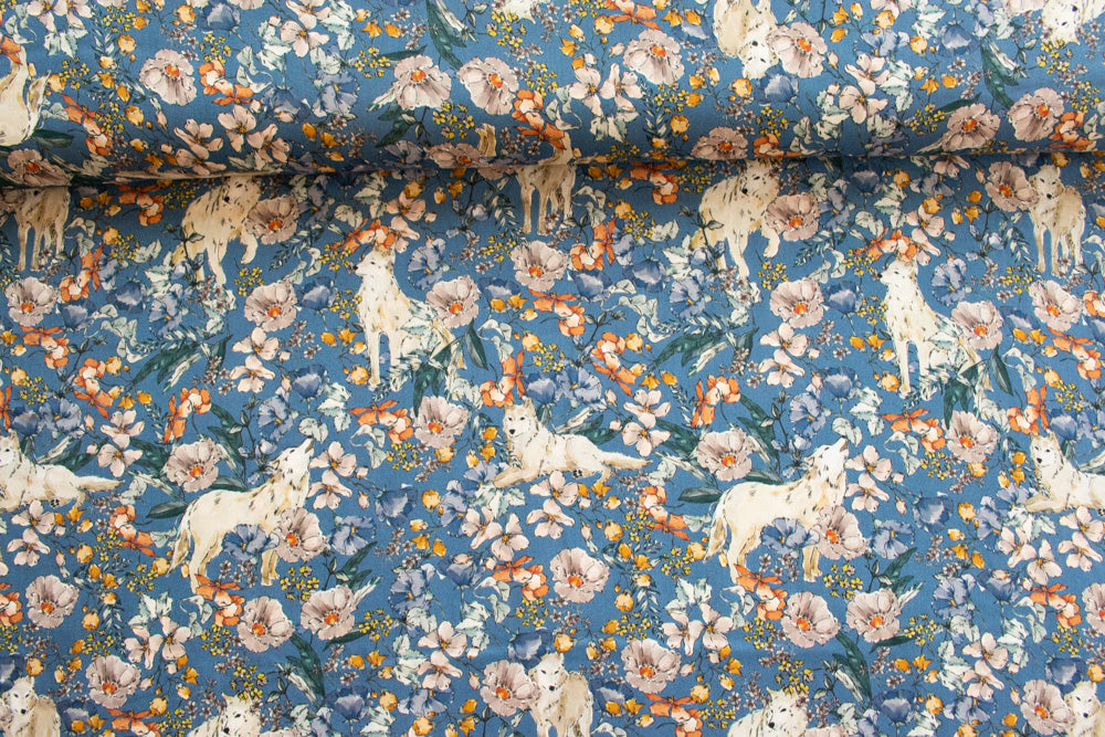 Lady McElroy - Viscose Challis Lawn - Artic Wolves - MaaiDesign