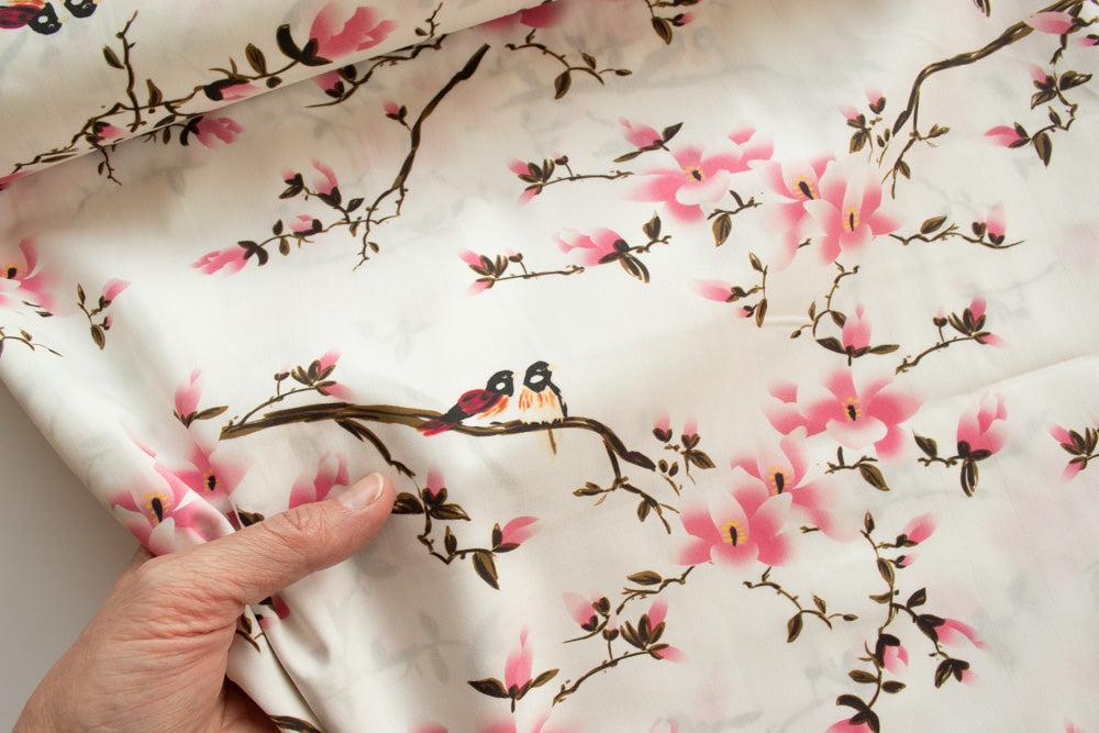 Lady McElroy - Cotton Lawn - Flora Songbird - MaaiDesign