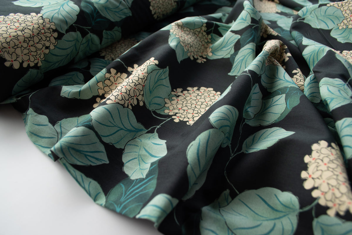 Lady McElroy - Cotton Lawn - Hydrangea- Midnight - MaaiDesign