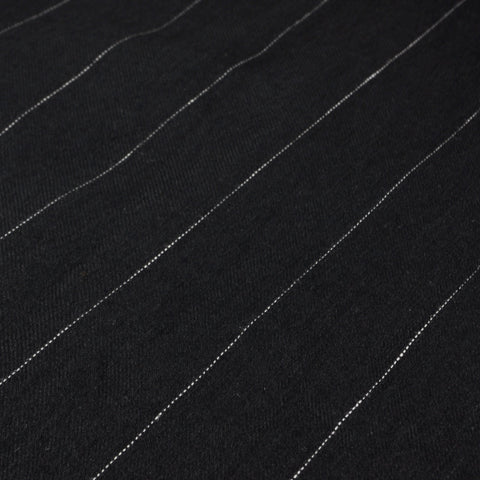 Linen - Black Pin Stripe - MaaiDesign