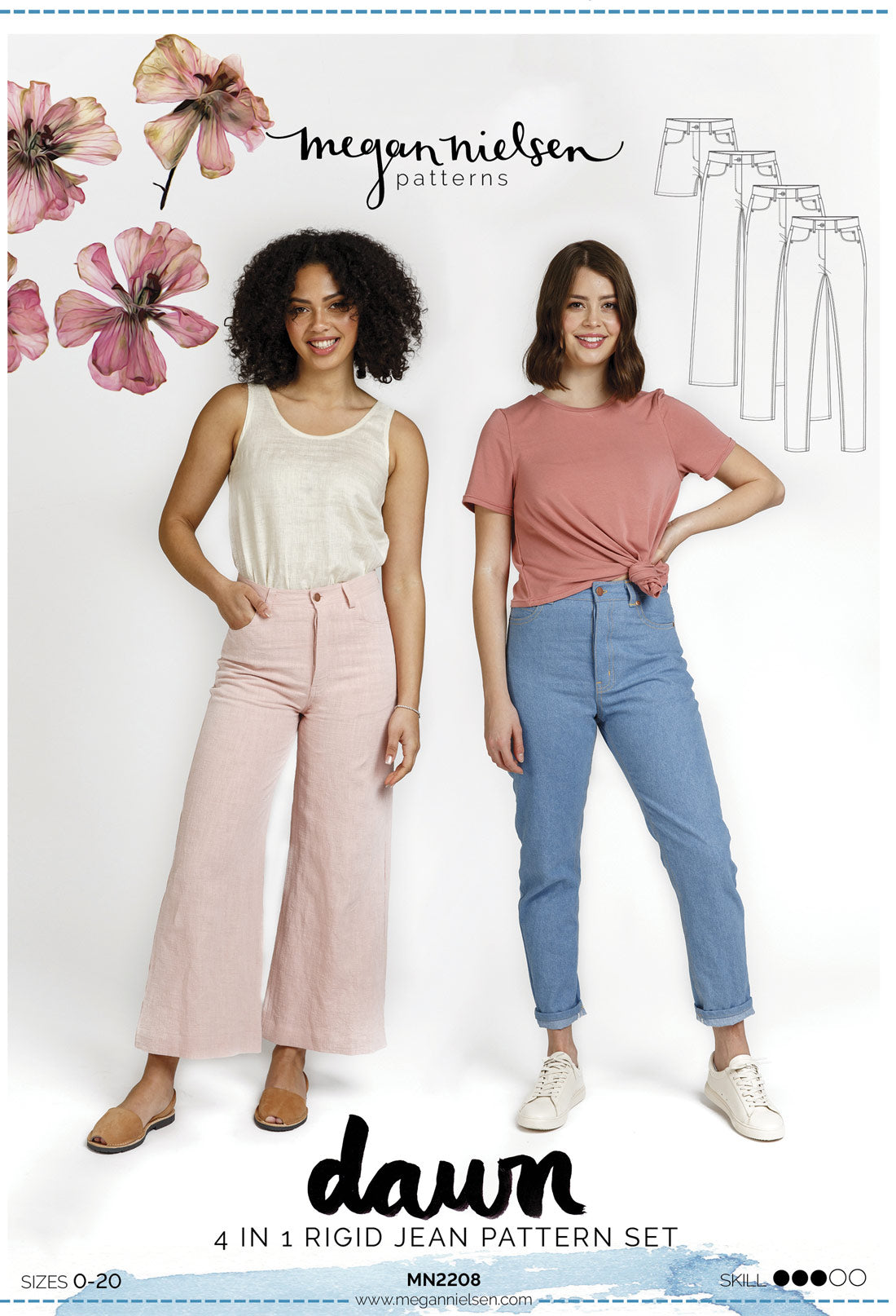 Dawn Jeans (4 in 1!) | Sewing Pattern - MaaiDesign