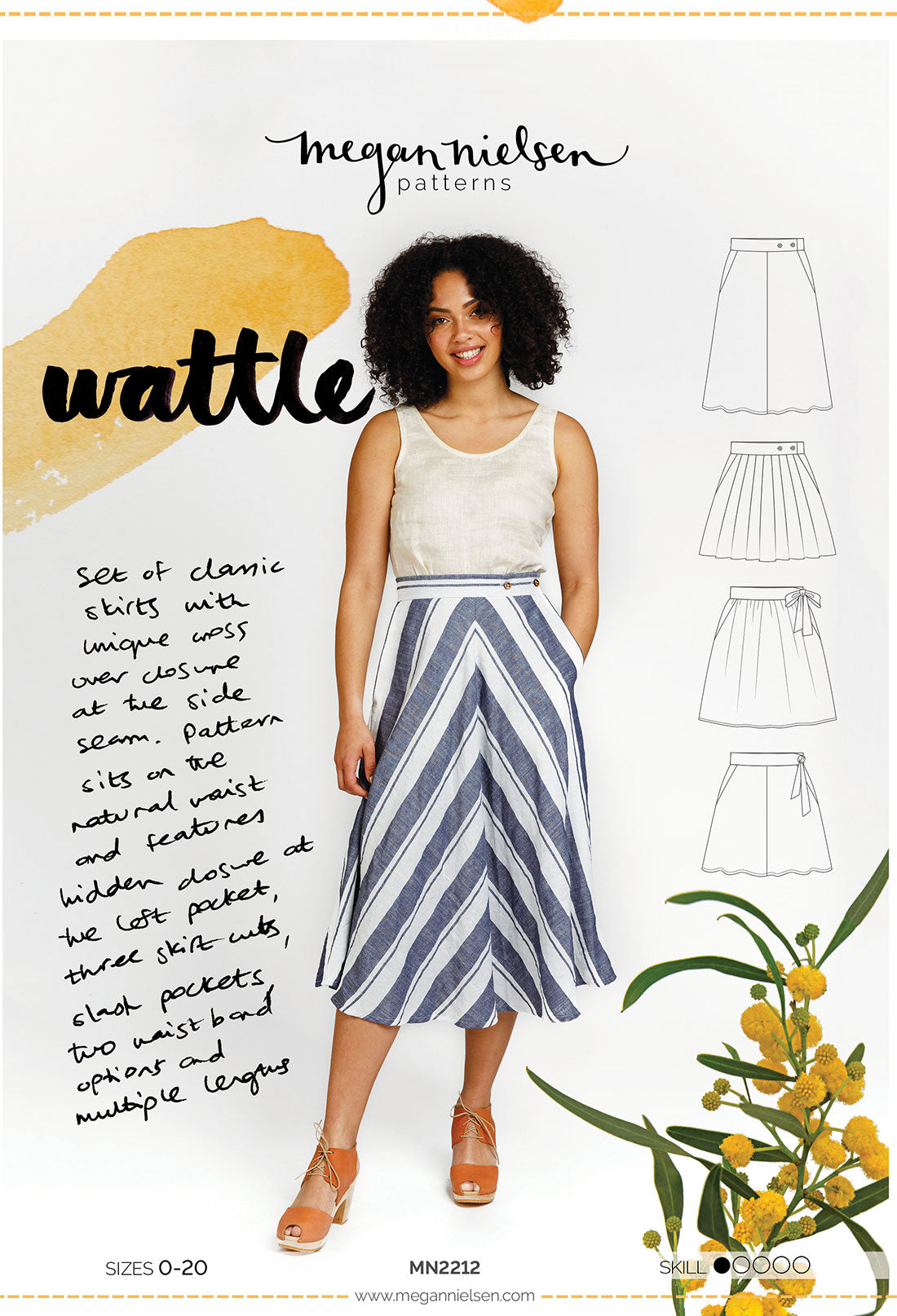Wattle Skirt | Sewing Pattern - MaaiDesign