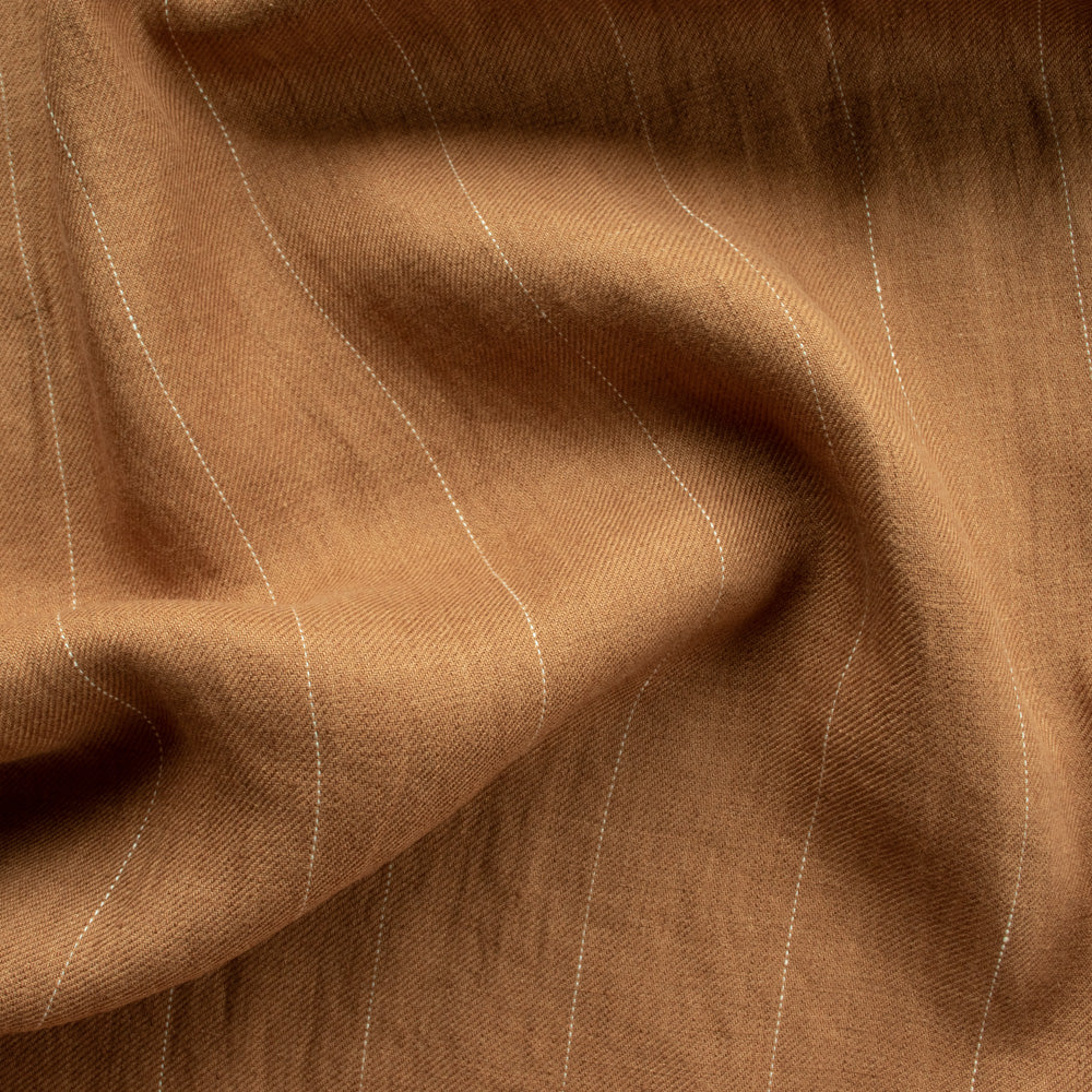 Linen - Toffee Pin Stripe - MaaiDesign