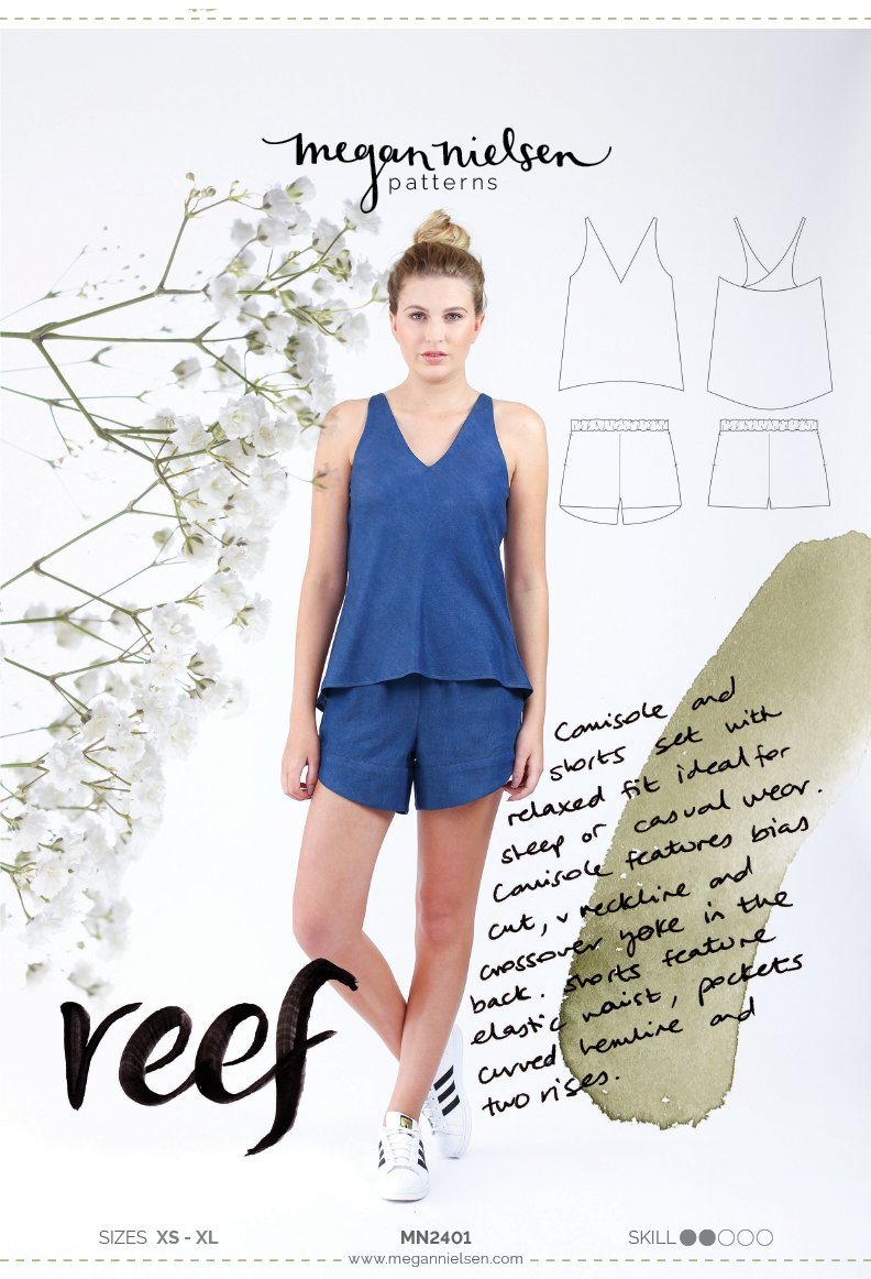 Reef Camisole and Shorts Set | Sewing Pattern - MaaiDesign