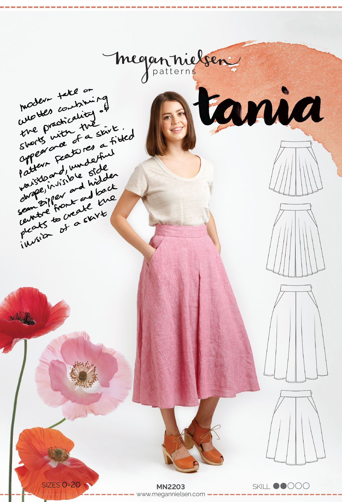 Tania Culottes | Sewing Pattern - MaaiDesign