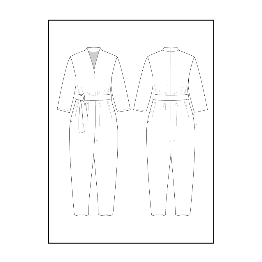 V-Neck Jumpsuit - The Assembly Line - MaaiDesign
