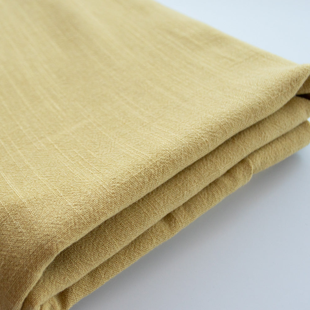 Viscose Linen Noil - Lemon Butter - MaaiDesign