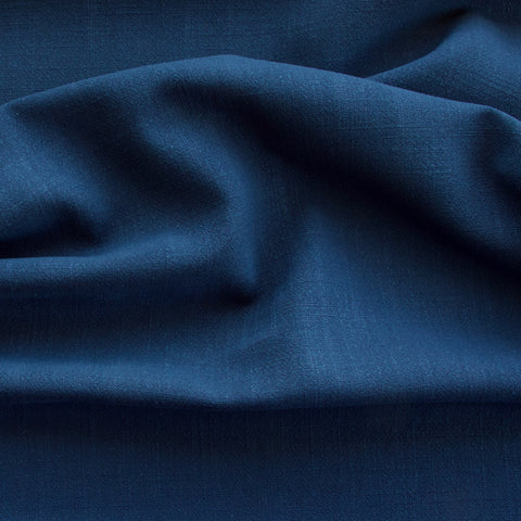Viscose Linen Noil - Navy Blue - MaaiDesign