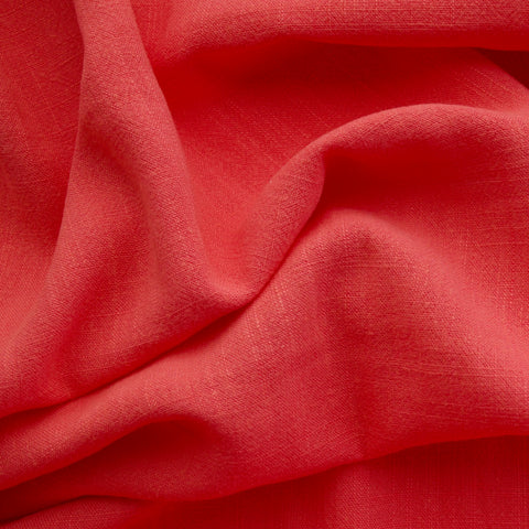 Viscose Linen Noil - Coral - MaaiDesign