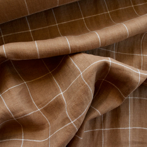 Checkered Linen - Camel - MaaiDesign