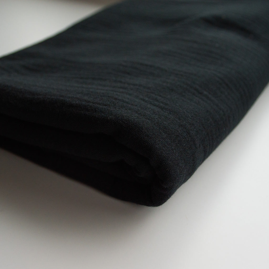 Double Gauze Cotton - Black - MaaiDesign