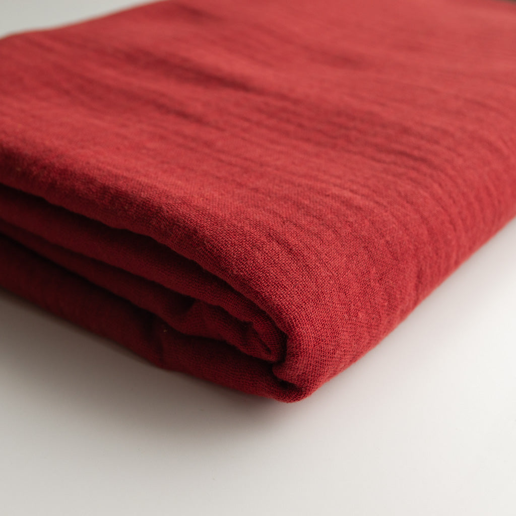 Double Gauze Cotton - Brick Red - MaaiDesign