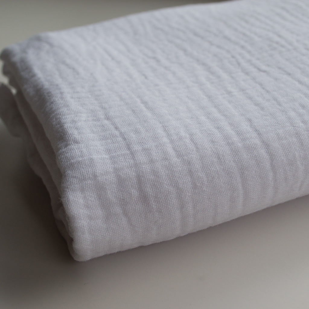 Double Gauze Cotton - Crisp White - MaaiDesign