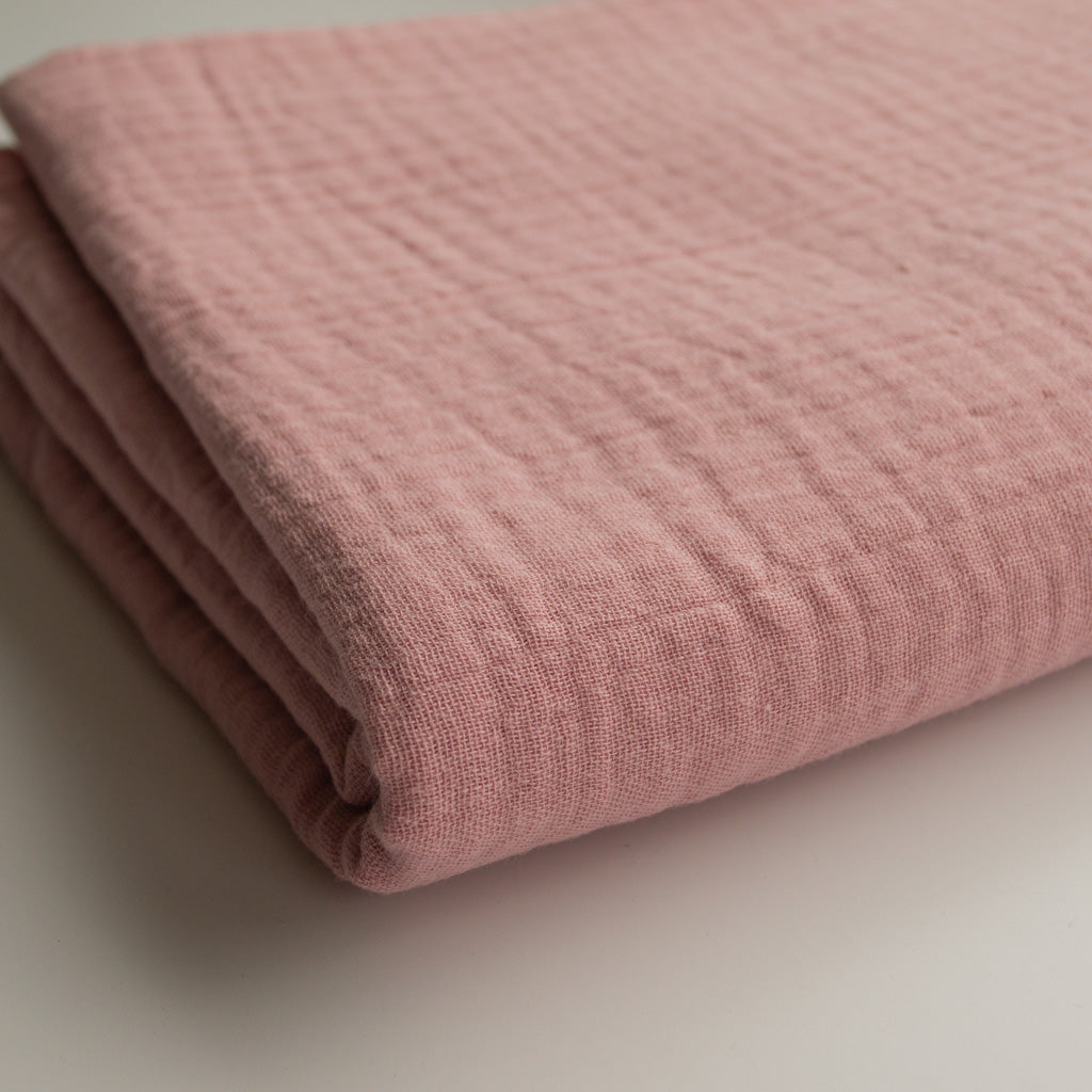 Double Gauze Cotton - Dusty Rose - MaaiDesign