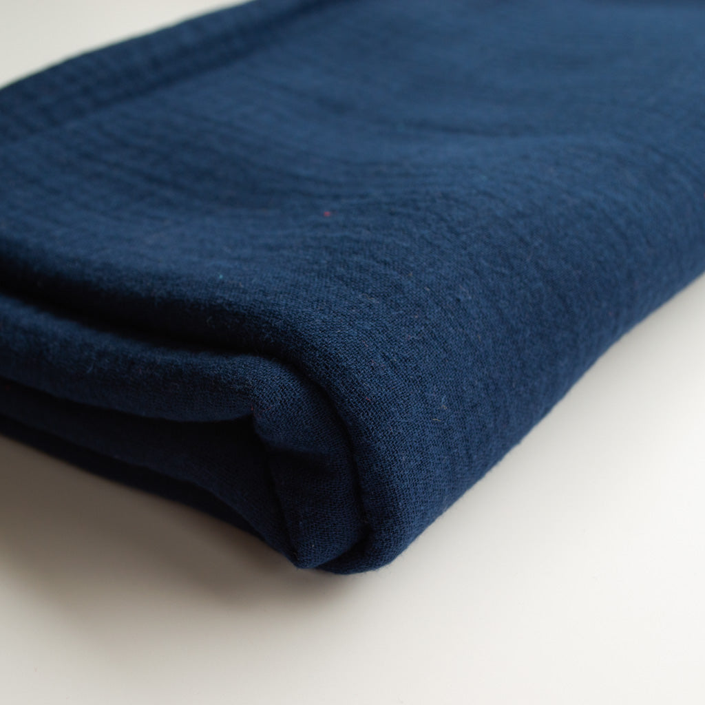 Double Gauze Cotton - Dark Blue - MaaiDesign