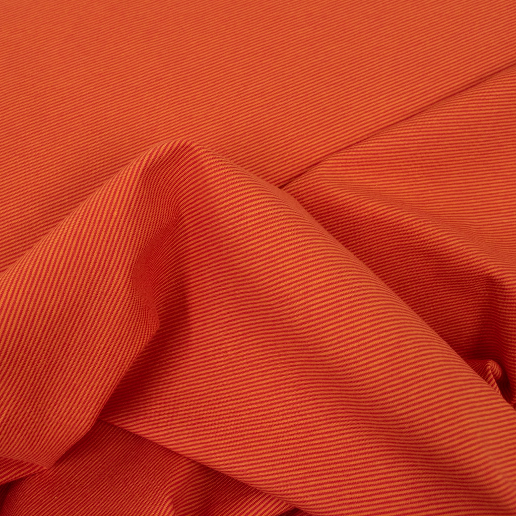 Cotton Jersey - Red Orange Thin Stripes - MaaiDesign