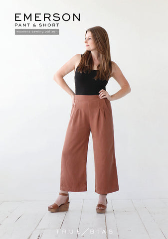 Emerson pant/ Short - True Bias | Sewing Pattern - MaaiDesign