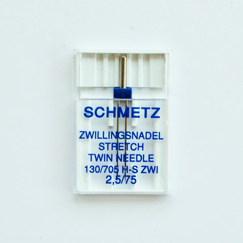 2.5mm Twin Machine Needle for Stretch - Schmetz - MaaiDesign