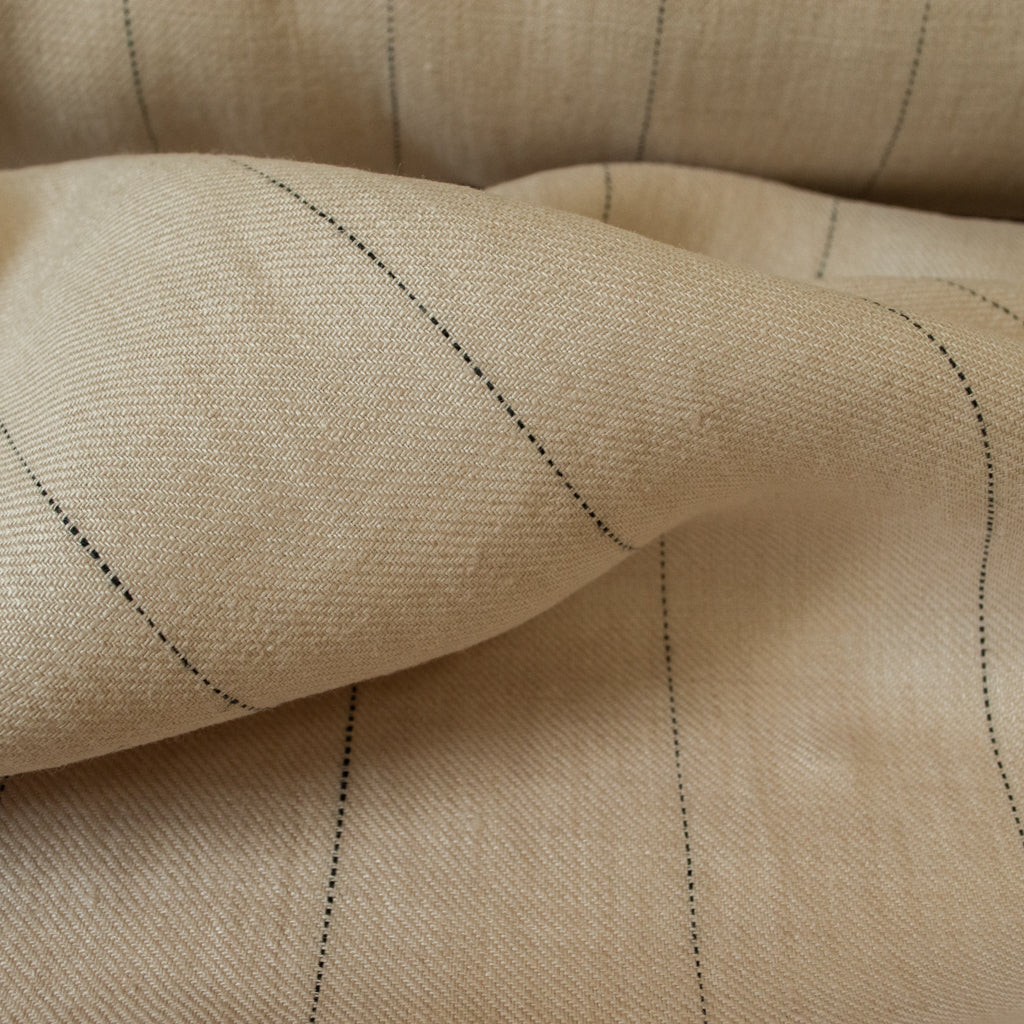 Linen - Sand Pin Stripe - MaaiDesign