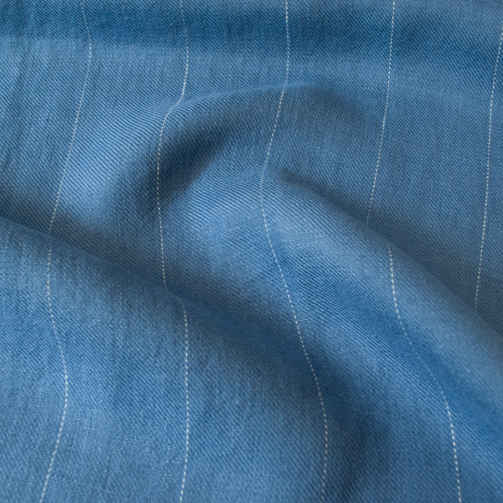 Linen - Sky Blue Pin Stripe - MaaiDesign
