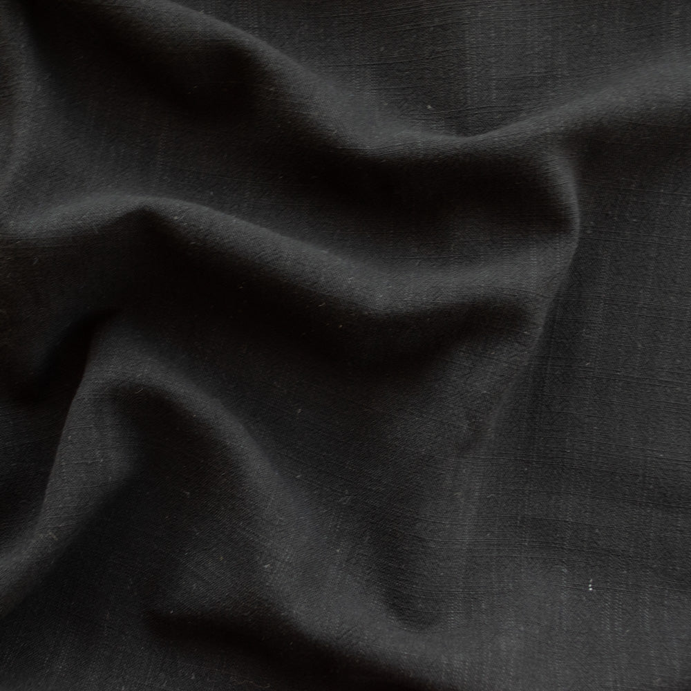 Viscose Linen Noil - True Black - MaaiDesign