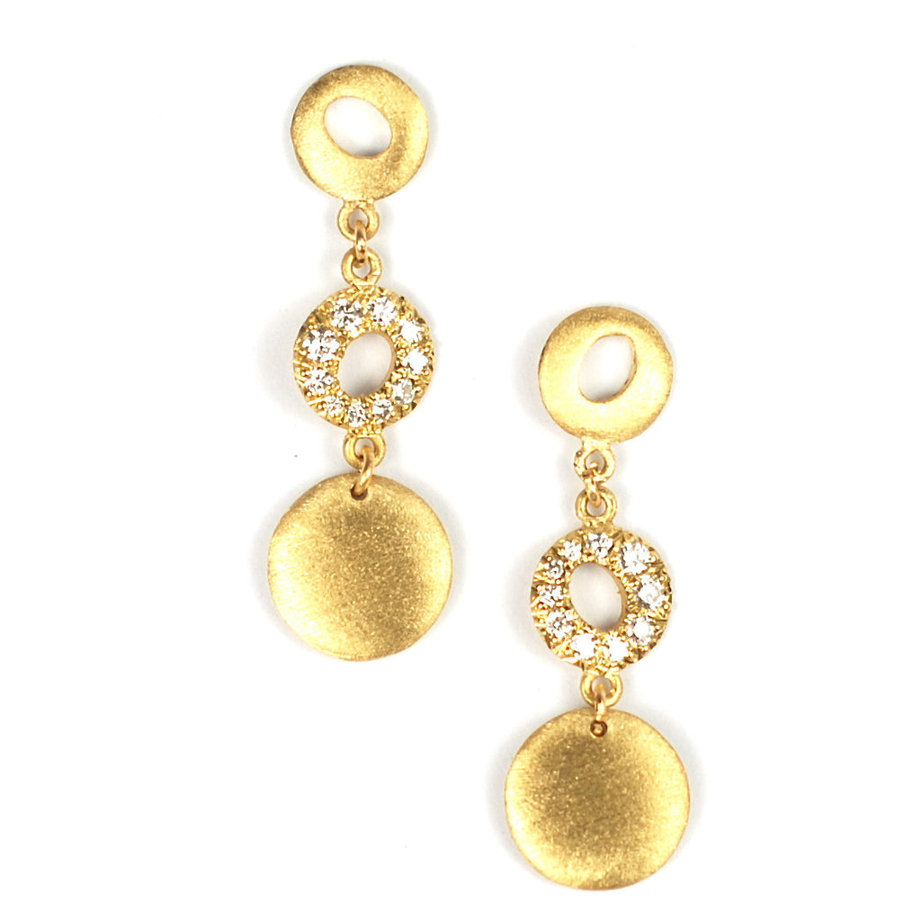 Triple Dot & Halo Earrings by Samantha Louise Jewelry