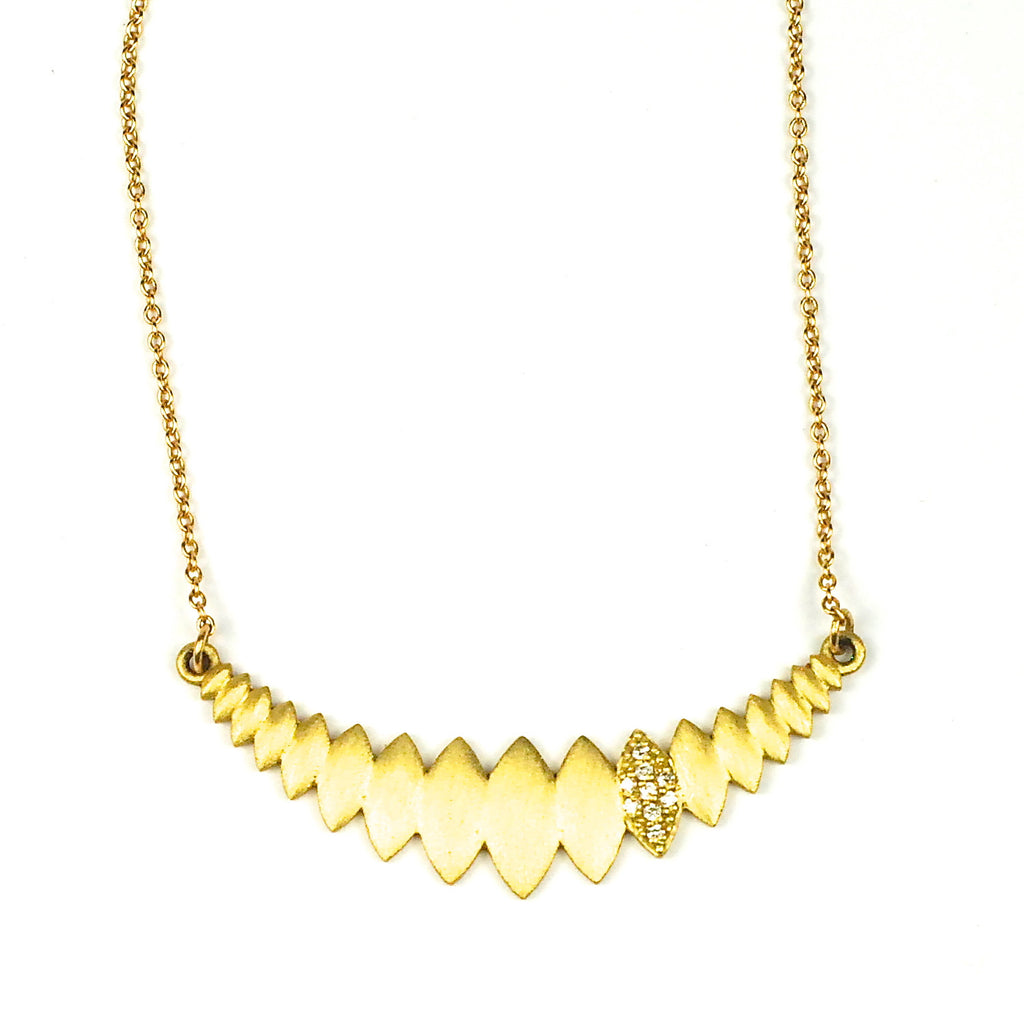Happy Petal Necklace in 18K Yellow Gold by Samantha Louise Jewelry