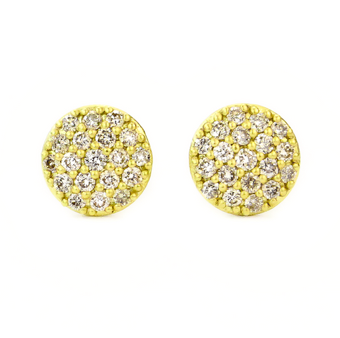 PAVE DOT STUD EARRINGS