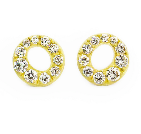 PAVE HALO STUD EARRINGS