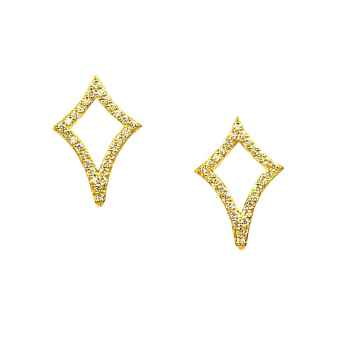 PAVE OPEN NORTH STAR EARRINGS