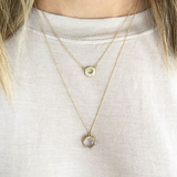 PAVE HALO NECKLACE