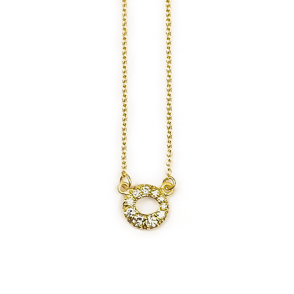 MINI PAVE HALO NECKLACE